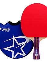 1 Etoile Ping Pang/Tennis de table Raquettes Ping Pang Bois Long Manche Boutons
