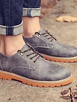 Men's Sneakers Spring Comfort PU Leatherette Casual Orange/Black Dark Brown Gray