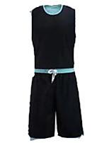 Homme Manches courtes Basket-ball Ensemble de Vêtements/Tenus Cuissards Respirable Anti-transpiration ConfortableVert et noir Noir /