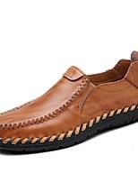 Черный Темно-русый-Для мужчин-Для прогулок Для офиса Повседневный Для занятий спортом Для вечеринки / ужина-Наппа LeatherУдобная обувь-