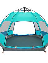 5-8 personnes Tente Double Tente automatique Une pièce Tente de camping 2000-3000 mm Fibre de verre Polyuréthane OxfordRésistant à