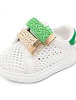 Mädchen-Flache Schuhe-Lässig-Tüll-Flacher Absatz-Lauflern-Rot Grün