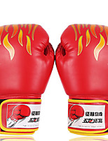 Боксерские перчатки для Бокс Полный палец Защитный Нейлон Кожа Красный Синий