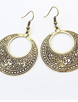 Drop  Earrings  Lady  Girls  Circle  Copper  Euramerican  Fashion  of  Carve Patterns  or  designs  Vintage  Earrings Halloween Party  Movie  Jewelry