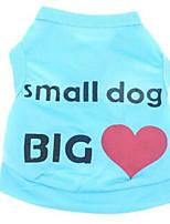 Собаки Жилет Одежда для собак На каждый день Буквы и цифры Синий Розовый