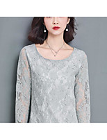 Women's Cute Blouse,Floral Round Neck Long Sleeve Cotton