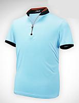 Homme Manches courtes Golf T-shirt POLO Respirable Anti-transpiration Confortable Blanc Orange Bleu Golf Sport de détente