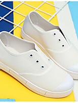 Damen-Loafers & Slip-Ons-Lässig-PUKomfort-Weiß Schwarz