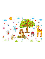 Wall Stickers Wall Decals Style Creative Animal Paradise PVC Wall Stickers