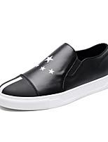 -Для мужчин-Для прогулок Для занятий спортом Повседневный-Дерматин-На плоской подошве-Удобная обувь-Мокасины и Свитер