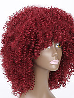Red Color Wigs For Black Women Kinky Curly Synthetic Women European Wigs