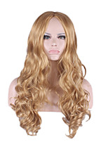 perruque cheveux synthetic Wigs Blonde natural anime hair Curly Long Wig