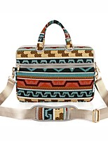 13.3 14.1 15.6 inch Retro Geometric Diamond Laptop Shoulder Bag with Strap Hand Bag for Surface/Dell/HP/Samsung/Sony etc
