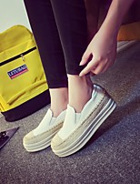 Women's Sneakers Spring Comfort PU Casual Silver Black White