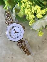 Mulheres Bracele Relógio Simulado Diamante Relógio Chinês Quartzo / imitação de diamante Lega Banda Casual Ouro Rose