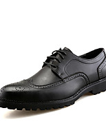 Men's Oxfords Spring Summer Comfort Leather Office & Career Party & Evening Casual Flat Heel Lace-up