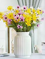 2 Une succursale Polyester Marguerites Fleur de Table Fleurs artificielles