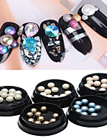 1PC ABS  Flat Pearl Nail Art Act The Role Ofing Is Tasted 10 Paragraph A Box 5 Colors Optional