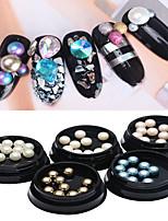1 pc abs plat perle ongle art acte le rôle ofing est goûté 10 paragraphe une boîte 5 couleurs facultatif