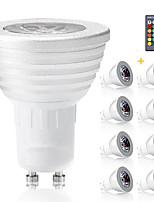 3W E14 GU10 GX5.3 E27 Spot LED MR16 1 LED Intégrée 300 lm RVB Gradable Commandée à Distance Décorative AC 85-265 V 8 pièces