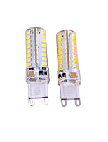 3W AC220-240 AC110-130V Warm White White G9 LED Bi-pin Lights T 64 SMD2835 550-650 lm  Decorative   2 pcs