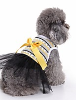 Cat Dog Tuxedo Dress Dog Clothes Summer Stripe Cute Fashion Casual/Daily Wedding