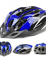 Bouchons de casque en mousse de vélo en mousse de 18 trous légers à trois couleurs