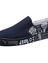 Черный Красный Синий-Для мужчин-Для прогулок Повседневный-ТканьУдобная обувь-Кеды