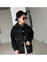Women's Casual/Daily Simple Spring Fall Denim Jacket,Solid Stand Long Sleeve Regular Others