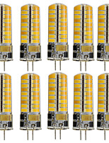 3W G4 Luces LED de Doble Pin T 72 SMD 5730 350 lm Blanco Cálido Blanco Fresco Decorativa V 10 piezas