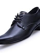 Men's Oxfords Spring Fall Comfort PU Outdoor Flat Heel Burgundy Black