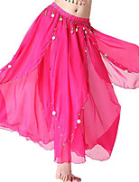 Shall We Belly Dance Bottoms Women Performance Chiffon Pendant 1 Piece High Skirts
