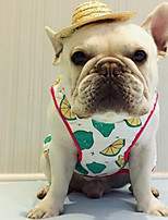 Dog Vest Dog Clothes Summer Geometic Cute Casual/Daily Light Green