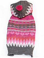 Hunde Pullover Hundekleidung Winter Geometrisch Modisch Lässig/Alltäglich Fuchsia