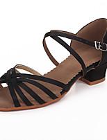 Chaussures de danse() -Non Personnalisables-Talon Bottier-Satin-Latines