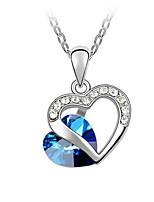 Жен. Ожерелья с подвесками В форме сердца Позолота Сердце Мода Светло-синий Бижутерия Для Для вечеринок Повседневные 1шт