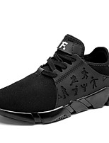 Men's Sneakers Spring Summer Fall Comfort Light Soles Tulle Outdoor Casual Flat Heel Walking Shoes Black White