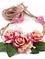 Kids Fabric Hair Clip Flowers Cute Party Casual Spring Summer Headband Headpiece Head Wreath Hair Accessories Flower Belt Girls
