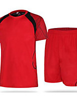 Men's Soccer Sweatshirt Comfortable Summer Solid Polyester Football/Soccer Black Sea Green Black/Red Black/White White/Blue