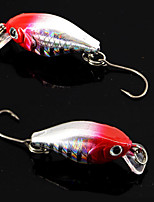 2 pcs Crank Fishing Lures Metal Bait Red Blue gold black back g/Ounce,50 mm/2-1/8