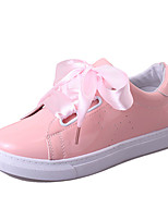 Women's Sneakers Spring Summer Fall Comfort PU Athletic Casual Flat Heel Blushing Pink White