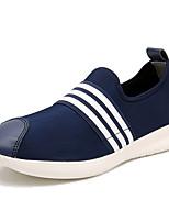 Черный Серый Синий-Для мужчин-Повседневный-Полотно-На плоской подошве-Удобная обувь-Мокасины и Свитер