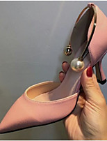 Frauen Fersen Sommer Slingback PU lässig blushing rosa schwarz