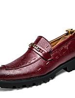 -Для мужчин-Для офиса Повседневный Для вечеринки / ужина-Кожа-На плоской подошве-Удобная обувь-Туфли на шнуровке