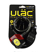 ULAC AL3P Steel Chain Bicycle Electronic Alarm Lock Cycling Alarm Cable Lock MTB Anti-theft Lock Road Bike Safety Wire Lock