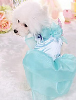 Hunde Kleider Hundekleidung Niedlich Modisch Prinzessin Blau Rosa