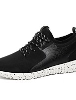 Men's Sneakers Spring Summer Comfort PU Casual Flat Heel White Black Black/White