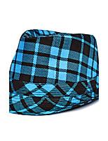 Men's Holiday Color Lattice Print Wide Brim Hat Jazz Vacation Shade Sun Cap