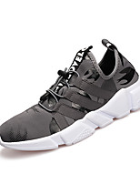 Men's Athletic Shoes Spring Summer Comfort Fabric Outdoor Athletic Casual Running Flat Heel Gore Gray Black
