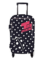 Luggage Cover for Luggage Accessory Polyester-Black/White